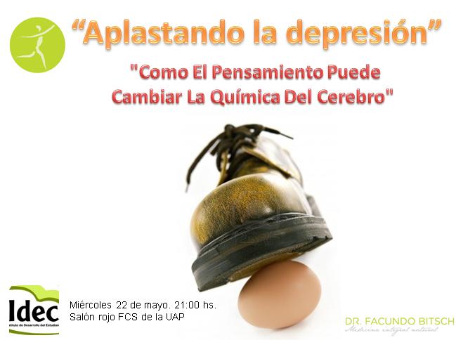 APLASTANDO LA DEPRESION. DR. FACUNDO BITSCH MEDICINA INTEGRAL NATURAL