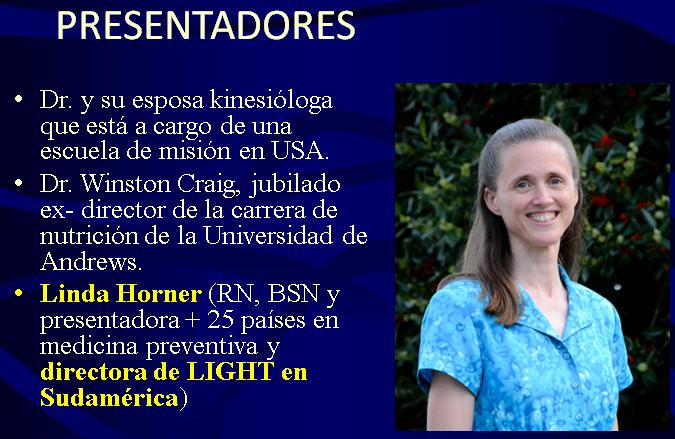 Presentadores 2 Curso medico misionero LIGHT en Argentina Buenos Aires Medicina integral natural Facundo Bitsch Linda Horner