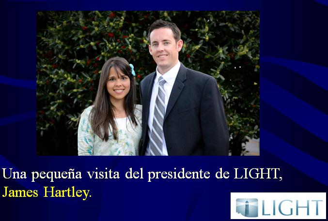 Visita pequeña del presidente de LIGHT Curso medico misionero LIGHT en Argentina Buenos Aires Medicina integral natural Facundo Bitsch James Hartley