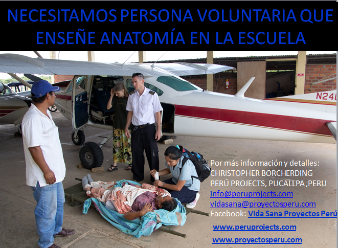 Peru projects medicina integral natural facundo bitsch necesitamos voluntario para enseñar anatomía