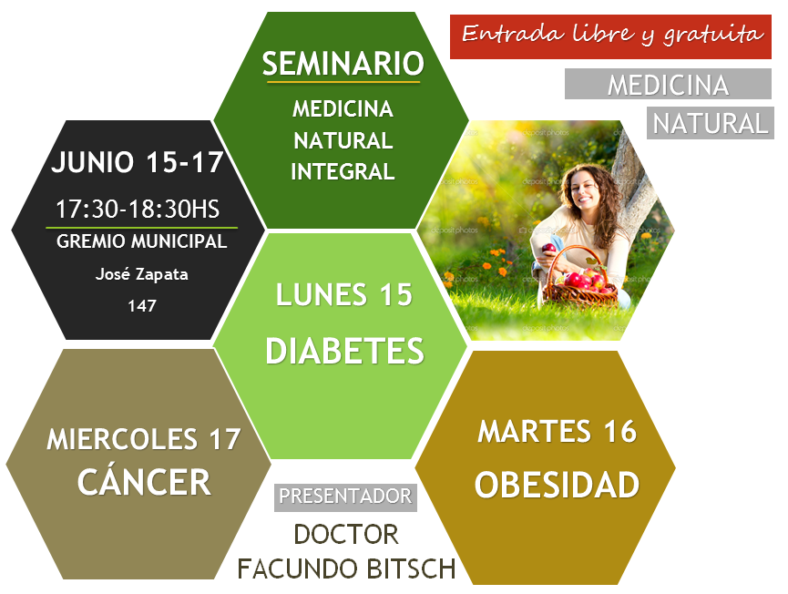 Seminario de diabetes obesidad cáncer medicina integral natural doctor facundo bitsch auspicia municipalidad de Mendoza