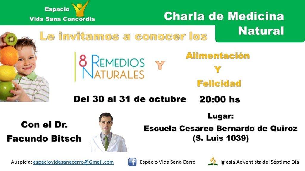 Evento Charla de salud Facundo Bitsch medicina integral natural Concordia Argentina
